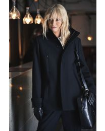 Hybrid wool coat women