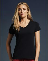 Damen T-Shirt Fashion Basic V Neck Anvil
