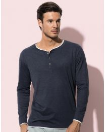 Herren Sweatshirt Henley Stedman Collection