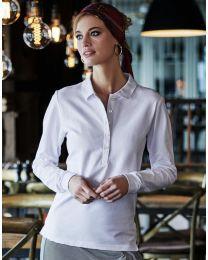 Damen Poloshirt Langarm Luxury Tee Jays