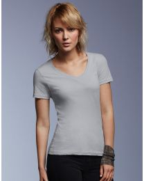 Damen T-Shirt Featherweight V-Neck Anvil