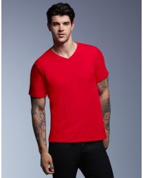 Herren T-Shirt Featherweight V Neck Anvil