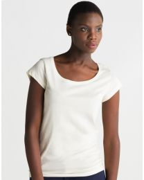 Damen T-Shirt Organic U Neck Mantis