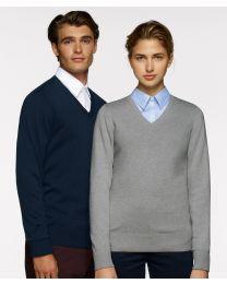 Damen-V-Pullover Premium-Cotton
