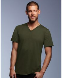 T-Shirt Fashion Basic V-Neck Anvil