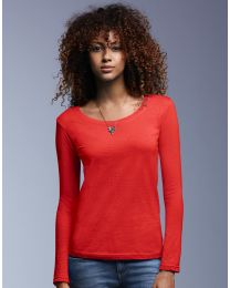 Damen Sweatshirt Sheer Scoop Anvil