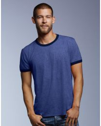 Herren T-Shirt Fashion Basic Ringer Anvil