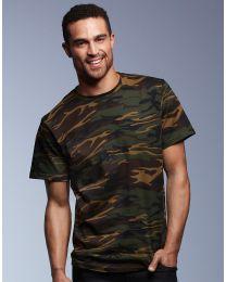 Herren T-Shirt Camouflage Anvil