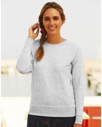 Damen Sweatshirt Lightweight Raglan Fruit of the Loom