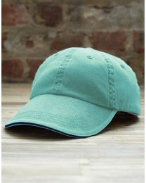 Cap Sandwich Trim Pigment-Dyed Twill Anvil