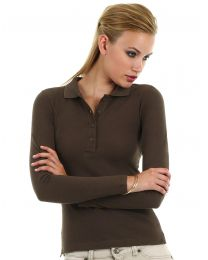 Damen Poloshirt Langarm B&C Collection