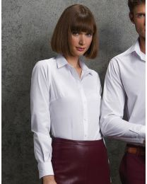 Women`s Poplin Shirt LS