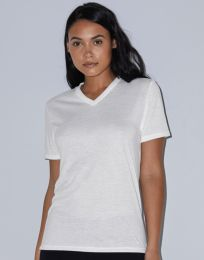 Damen T-Shirt Sublimation Classic V-Neck American Apparel