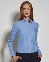 Langarm-Bluse Slim Fit Seidensticker