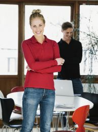 Langarm-Poloshirt Classic Marion Clique