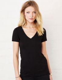 Damen T-Shirt Deep V-Neck Jersey Bella