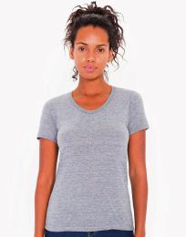 Damen T-Shirt Tri-Blend Crew Neck American Apparel