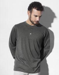 Langarm-T-Shirt Aden Henley Nakedshirt