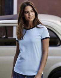 Damen T-Shirt Ringer Tee Jays