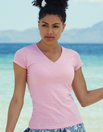 Damen T-Shirt Valueweight V Neck Fruit of the Loom
