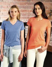 Damen T-Shirt V-Neck HD Russell