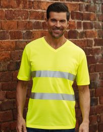 Hi-Vis Super Light V-Neck T-Shirt