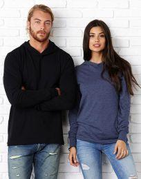 Unisex Langarm-T-Shirt mit Kapuze Jersey Bella