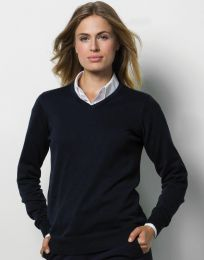 Damen Sweater Arundel V-Neck Kustom Kit