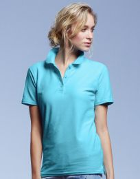 Damen Poloshirt Double Piqué Anvil