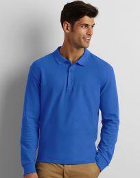 Herren Poloshirt Langarm Premium Gildan