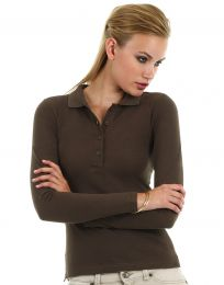 Damen Langarm-Poloshirt B&C Collection
