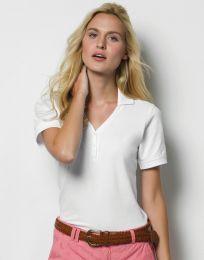 Damen Poloshirt Comfortec® V Neck Kustom Kit