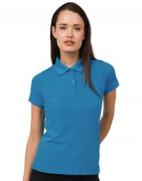 Damen Poloshirt Safran B&C Collection