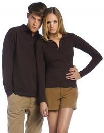 Langarm-Poloshirt B&C Collection