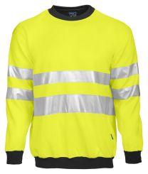 Warnschutz-Sweatshirt EN ISO 20471 Kl. 3 6101 Projob