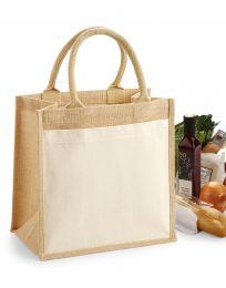 Einkaufstasche Fronttasche aus Baumwolle Jute Midi Westford Mill