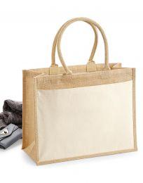 Einkaufstasche Fronttasche aus Baumwolle Jute Westford Mill