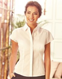 Kurzarm Bluse Popelin Russell Collection