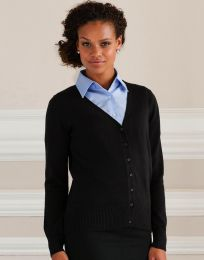 Damen Cardigan V-Neck Knitted Russell