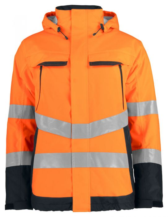 Gefütterte Warnschutzjacke EN ISO 20471 Klasse 3 6441 Projob ...